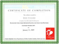 child abuse certification