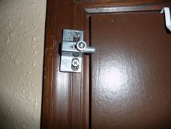 door lock high up