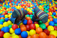 socks sticking out of balls, stages of child development