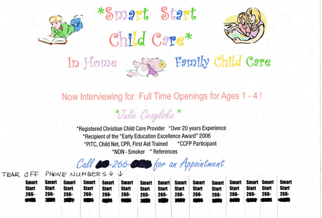 child care ad