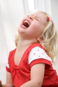 gril with temper tantrum