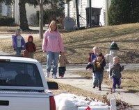 kids on a walk