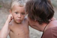 toddler being scolded for child discipline